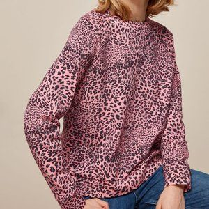 Whistles Wild Cat Printed Crewneck Sweatshirt
